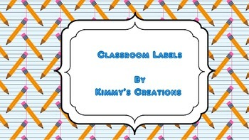 Classroom Labels (Pencils)