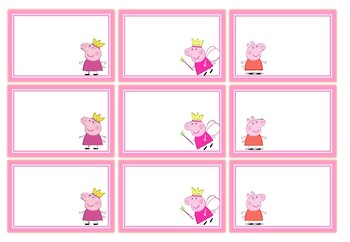 Classroom Labels - Peppa Pig Theme