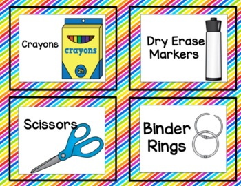 Classroom Labels ~ Perfect for Classroom Set Up and Organization ~Back to School