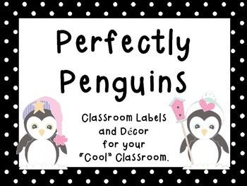 Penguin Theme Classroom Labels