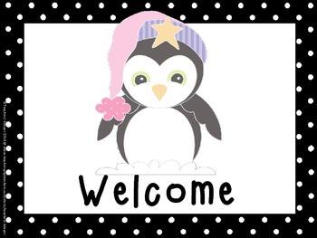 Penguin Theme Classroom Labels