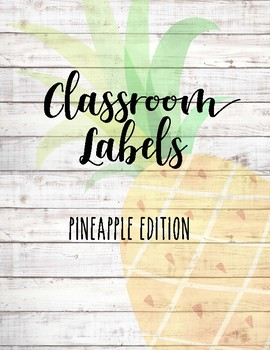 Classroom Labels ~ Pineapple & Shiplap
