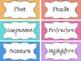 Classroom Labels Polka Dot
