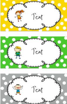 Classroom Labels Polka Dot Pack