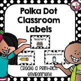 Classroom Labels-Polka Dots!
