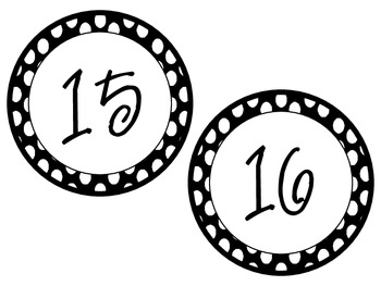 Classroom Labels -Polka Dot(white with black dots)