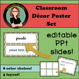 Classroom Labels / Posters (Editable!)  Warm Kaleidescope