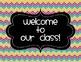 Classroom Labels {Rainbow Brights Chevron}