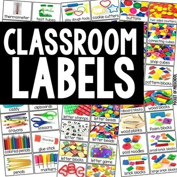 Classroom Labels - Real Photos for Preschool, Pre-K, Kinder, & 1st Grade
