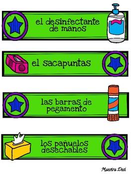 Classroom Labels / Rotulos para la sala de clases