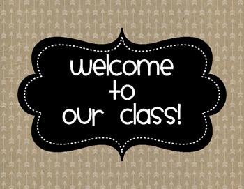 Classroom Labels {Rustic Arrows}