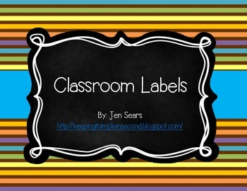 Classroom Labels (Safari Theme)
