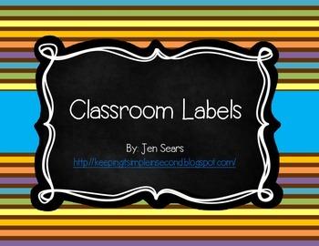 Classroom Labels (Safari Theme)