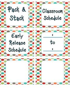 Classroom Labels - Schedule