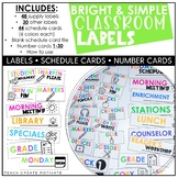 Classroom Labels   Schedule Cards   Editable