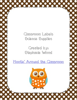 Classroom Labels-Science Supplies-Brown