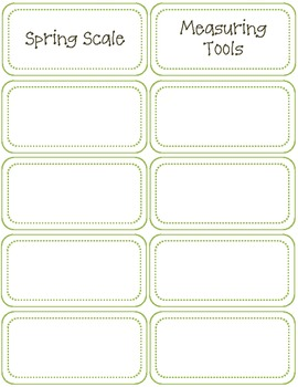 Classroom Labels-Science Supplies-Green