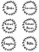 Classroom Labels - Shabby Chic