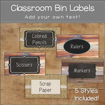 "Classroom Labels ""Shabby Chic"" School Labels and Decor"