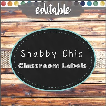 Shabby Chic Classroom Labels