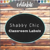 """Classroom Labels """"Shabby Chic"""" School Labels and Decor"""