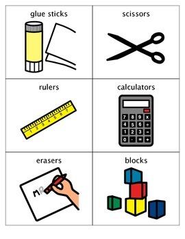 Classroom Labels (Simple Symbols)