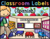 Classroom Labels (Spanish) Blue background