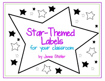 Classroom Labels: Star-themed