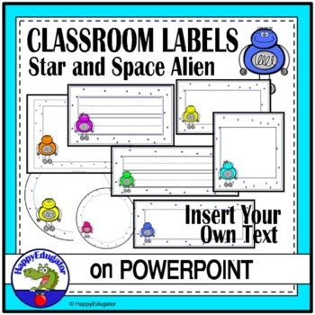 Star and Space Alien Labels