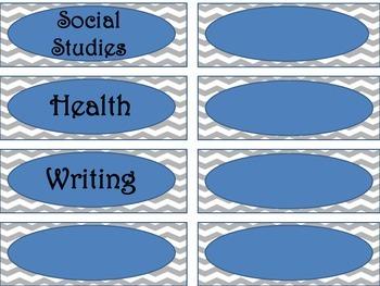 Classroom Labels. Subject Labels. Supplies Labels
