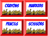 Classroom Labels, Superhero Theme (Editable)