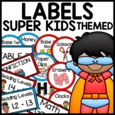 Classroom Labels (Superhero Themed)