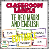 Te Reo Māori and English EDITABLE Classroom Decor Labels