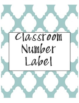 Classroom Labels - Teal (Editable and Customizable)