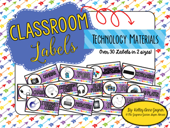 Classroom Labels: Technology Materials