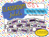 Classroom Labels: Technology Materials