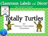 Turtle Theme - Classroom Decor Labels