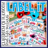 Classroom Labels | Toy Room Labels with Real Life Pictures