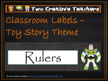 Classroom Labels Toy Story Theme