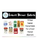 Classroom Labels - Travel Theme