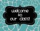 Classroom Labels {Turquoise Giraffe Print}