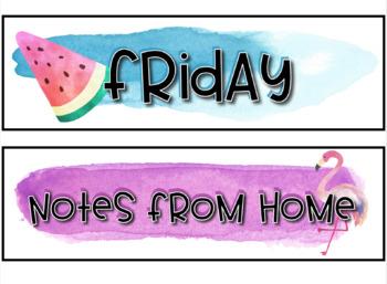 Classroom Labels- Watercolors