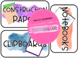 Classroom Labels- Watercolors