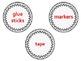 Classroom Labels: White Polka Dot