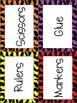 Classroom Labels--Zebra Print Theme
