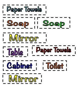 Classroom Labels and Basket Labels