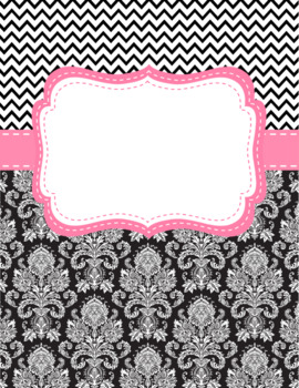 Classroom Labels and Binder Covers EDITABLE Black, White & Bright Colors