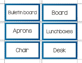 Classroom Labels and Cards in English