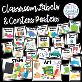 Classroom Labels and Centers Posters