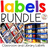 Classroom Supply and Library Labels Bundle